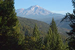 Mount Shasta view from Castle Crags State Park